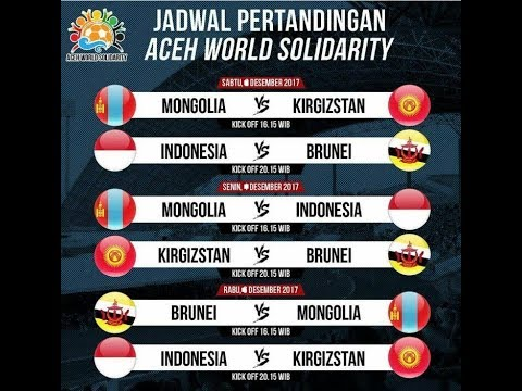Jadwal TIMNAS Update Terbaru | Aceh World Solidarity Cup Desember 2017