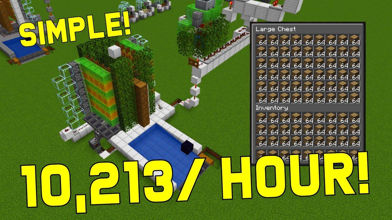 Tree Farm Minecraft 26.267  Automatic Wood Farm Tutorial [TNT Powered]