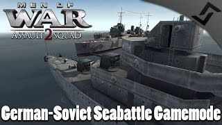 German-Soviet Seabattle Gamemode - Men of War: Assault Squad 2 - Valour Mod Ship Gameplay thumbnail
