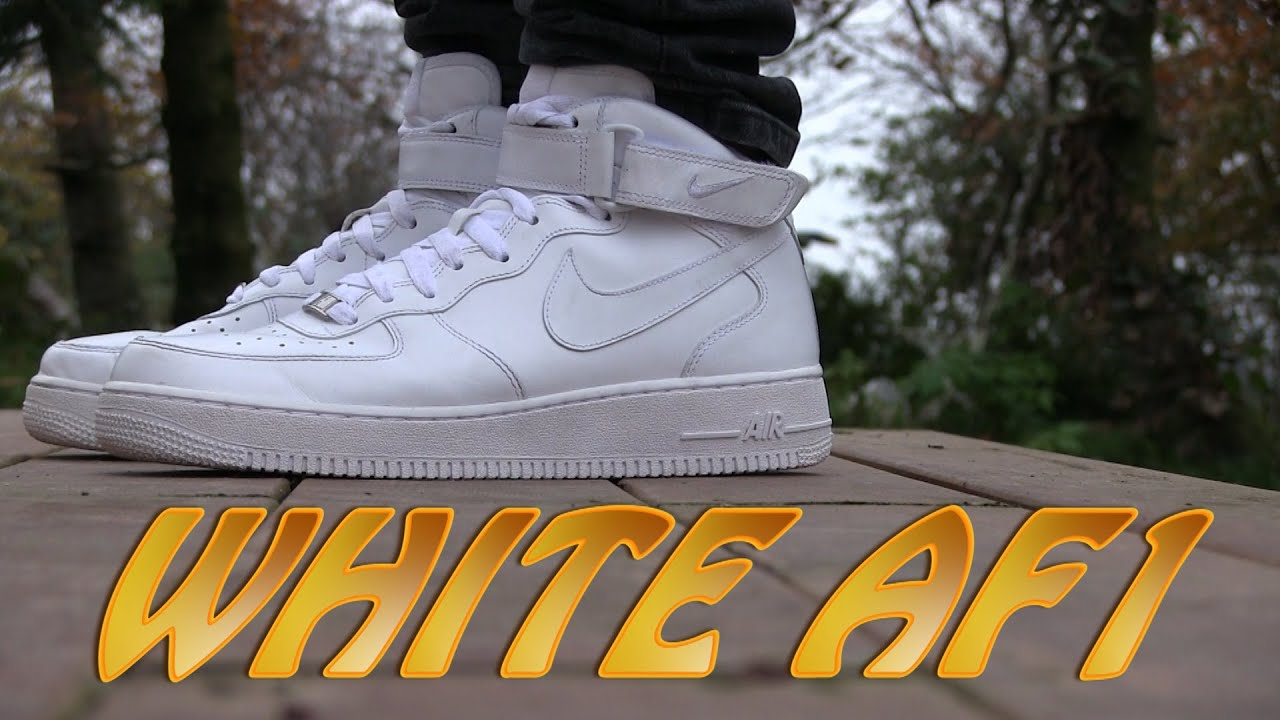 cddfcc9895b Nike Air Force 1 MID '07 (White) - On Feet - YouTube