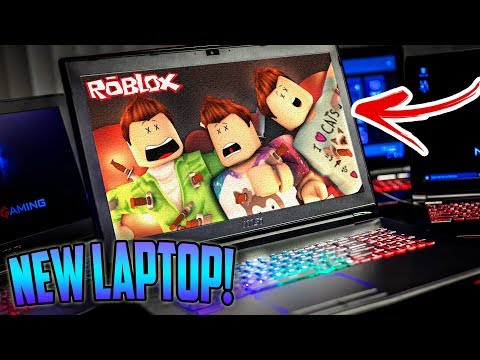 First Time Playing Roblox On My New Gaming Laptop Youtube