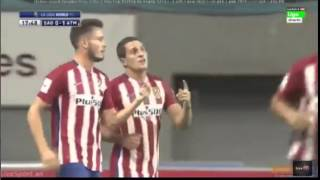 "Sagan Tosu-Atletico Madrid 0:1 Koke beautiful free kick ""dry leaf"" 1 08 2015"