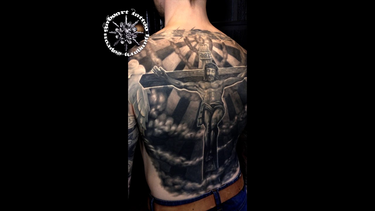 angels and jesus tattoo by gabo youtube