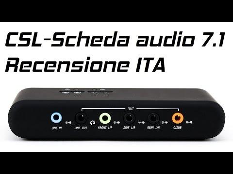 CSL - Scheda audio 7.1 USB Esterna Recensione + Aggiornamento Driver ITA