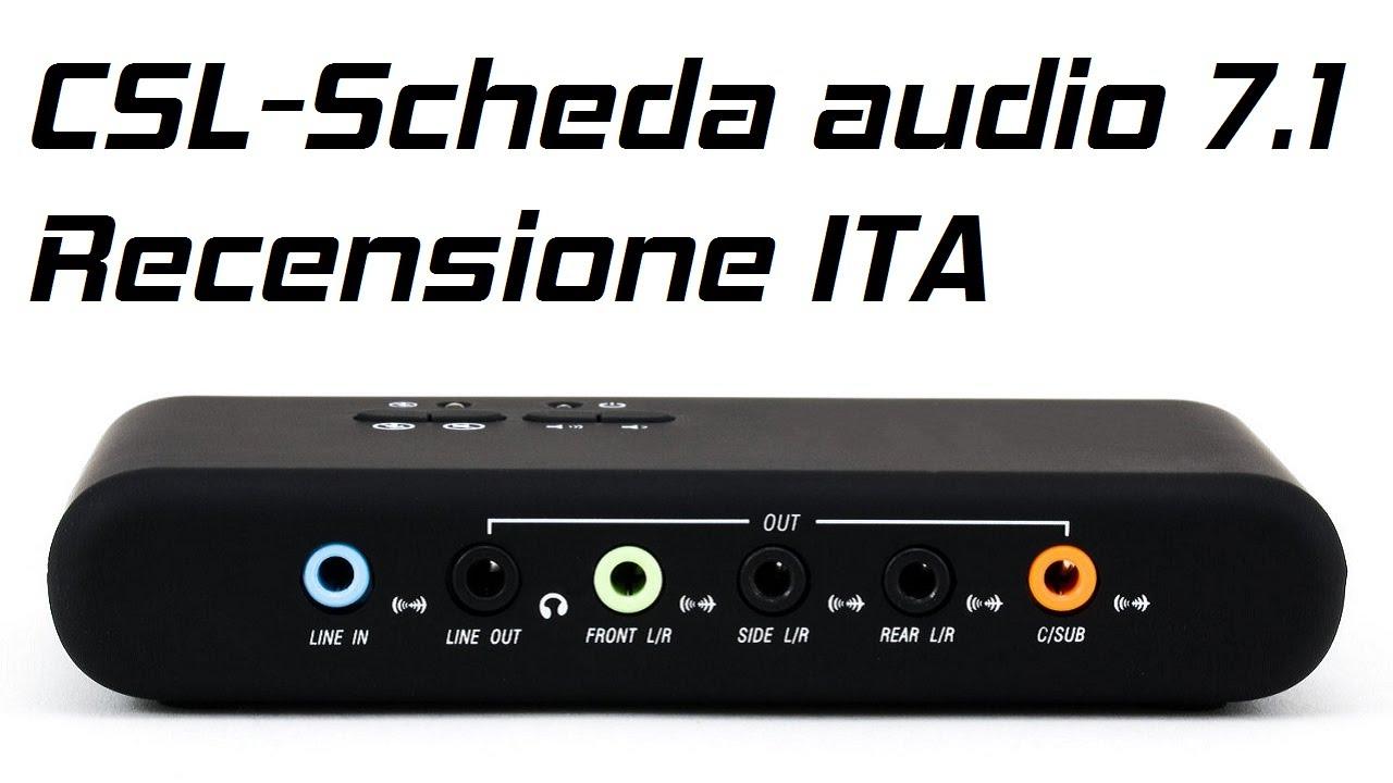 CSL - Scheda audio 7.1 USB Esterna Recensione ...