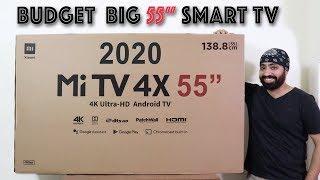"Mi TV 4X 55"" 2020 with NETFLIX | AMAZON PRIME | PLAY STORE  - Budget Big Smart TV"