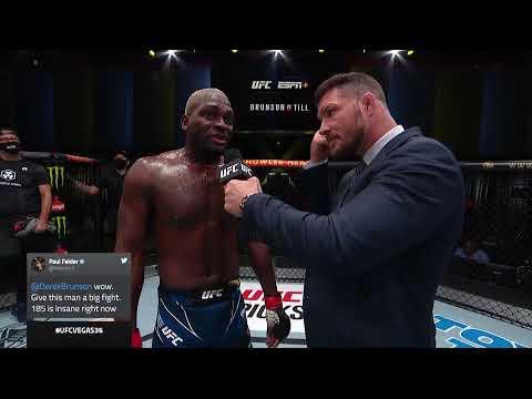 UFC Вегас 36: Дерек Брансон - Слова после боя