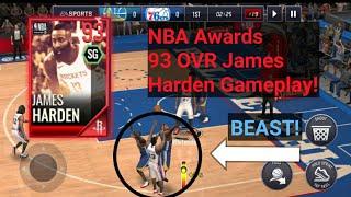 NBA Awards 93 OVR James Harden Gameplay!