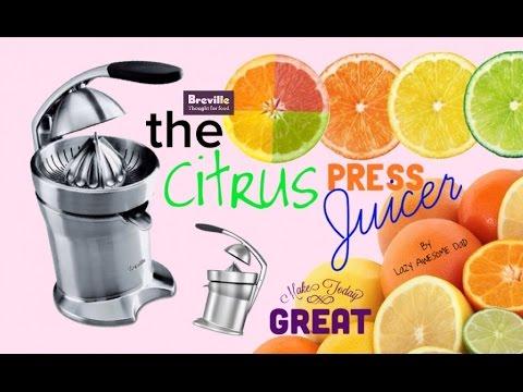 Citrus Press Juicer Breville die-cast 800CP - Fresh ORANGE Juice Sage Appliances
