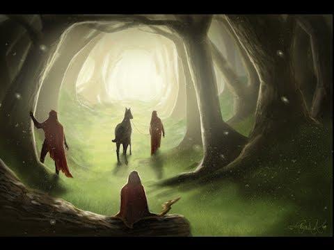Dark Forest Art Painting