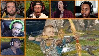 Let's Players Reaction To Atreus Shooting Kratos | God Of War (PS4)