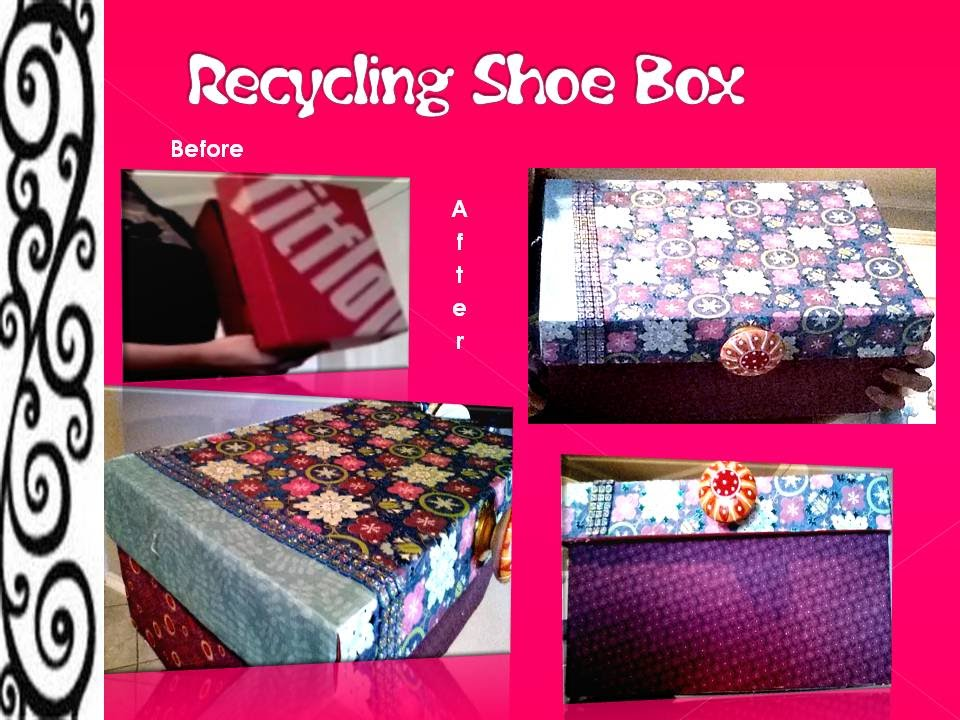 How to recycle a shoe box youtube for Reuse shoe box ideas