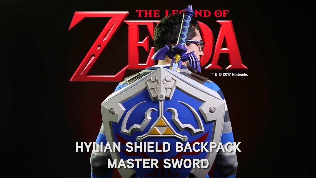 Legend Of Zelda Hylian Shield Backpack Master Sword From Thinkgeek
