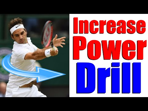 Increase Power with Core Rotation | Tennis Drills