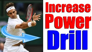 Increase Power with Core Rotation   Tennis Drills