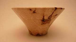 """Woodturning Silver Maple Bowl For """"turningforcharity"""""""