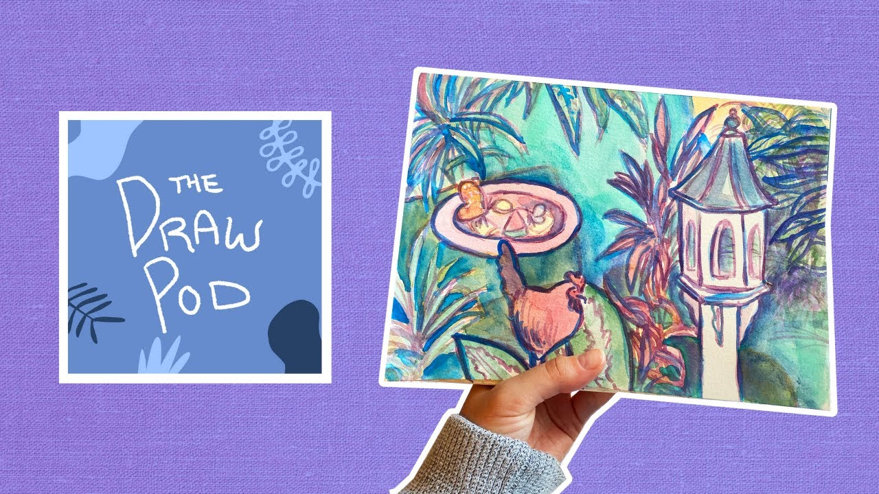 Draw Pod | Watercolor, cooking fails, cuban coffee, and 6-toed cats in Key West