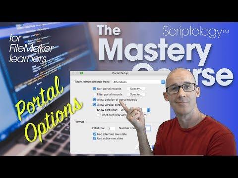 Lesson #6: Data Structure & Schema - Portal Options - Scriptology Mastery Course FileMaker