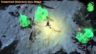 Path of Exile - Tombstone Desecrate Skill Effect