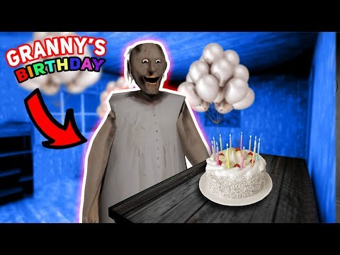 THROWING A BIRTHDAY PARTY FOR GRANNY!!!   Granny The Mobile Horror Game (Messing Around)