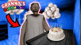 THROWING A BIRTHDAY PARTY FOR GRANNY!!! | Granny The Mobile Horror Game (Messing Around)