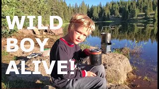 (full trip) High Mountain Camping & Fishing, Family, Friends & Firebox Stove Cooking