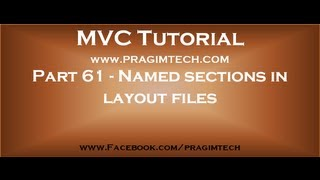 Part 61   Named sections in layout files in mvc