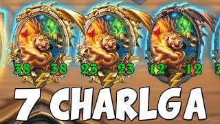7 CHARLGA At The Same Time! Hearthstone Battlegrounds