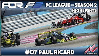 Assetto Corsa | AOR F3 PC League: Round 7 - Paul Ricard (Highlights)