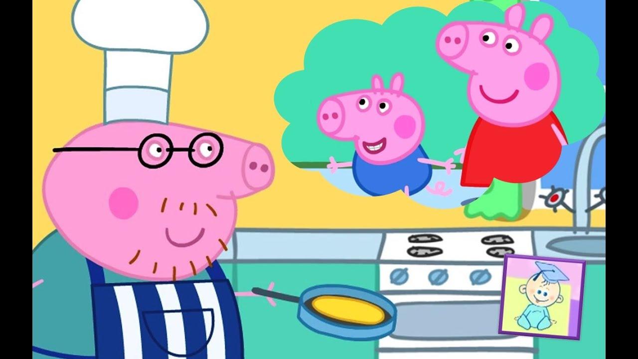 pig peppa pancake cooking daddy games game teacher baby