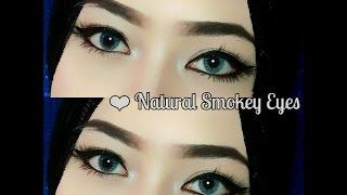 tutorial alis tanpa dicukur natural smokey eyes