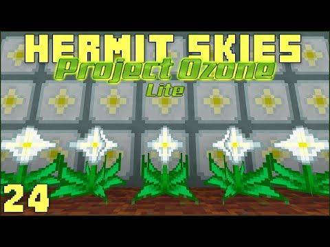 Hermit Skies 24 Nether Star Farming! (Project Ozone Lite Skyblock Modded Minecraft)