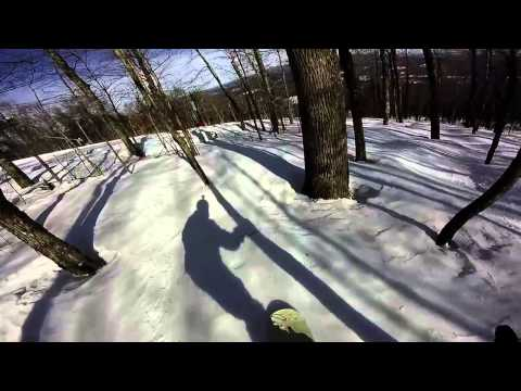 Snowboarding Ragged Mountain New Hampshire- GoPro 1080p HD