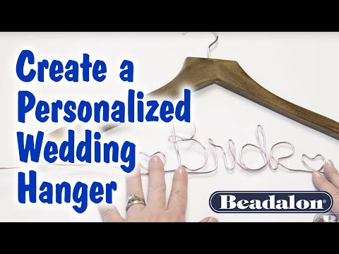 Create A Personalized Wedding Hanger
