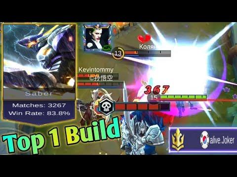 Mobile Legends: Top 1 Saber (alive.Joker) Build | Saber Ranked Gameplay