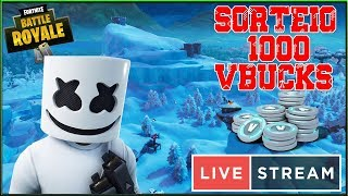 Fortnite-Domingo Royale E Vbucks Giveaway 1K #WO500Subs