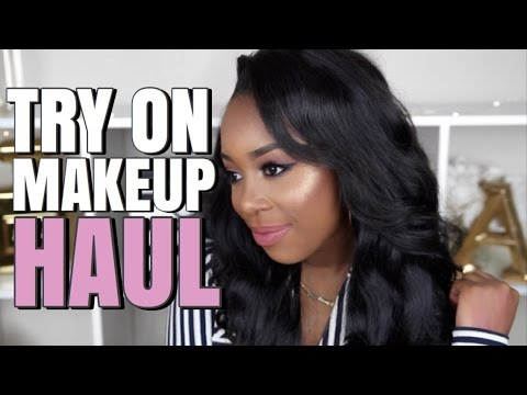TRY ON MAKEUP HAUL ft. TOO FACED, PUR, BLACK UP, AND MORE! | Andrea Renee