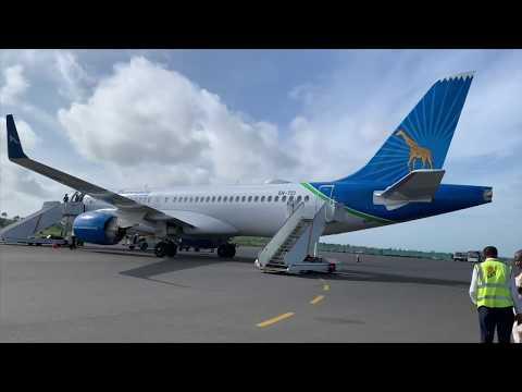 Air Tanzania Business Class   Airbus A220-300   Flight TC135 ZNZ-DAR
