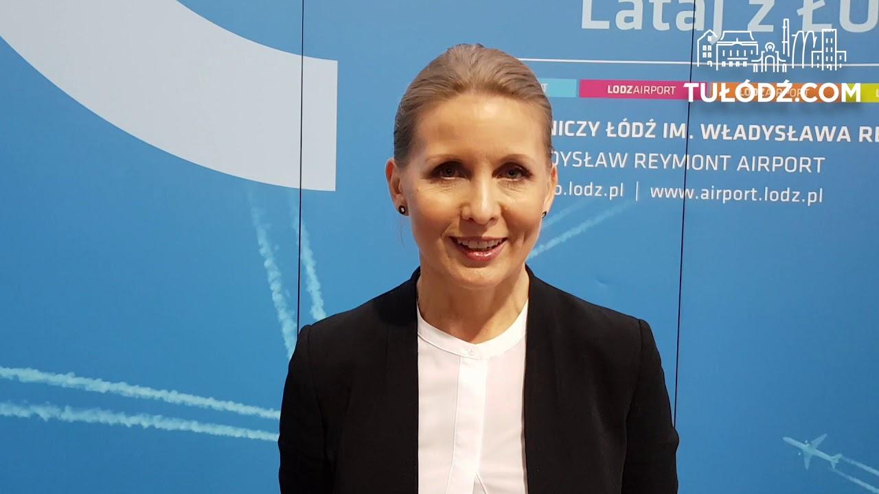 Anna Midera, prezes Portu Lotniczego Łódź składa świąteczne życzenia