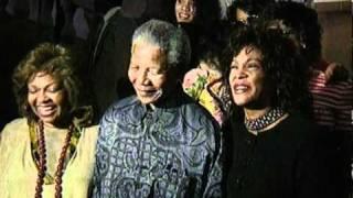 Nelson Mandela meets Whitney Houston