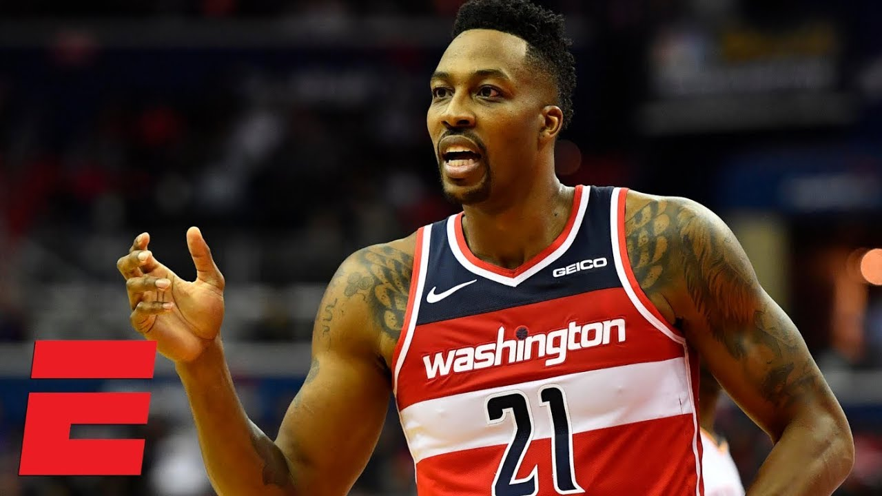 online store 9110f 7547c Dwight Howard loses Wizards debut vs. Russell Westbrook, Thunder | NBA  Highlights