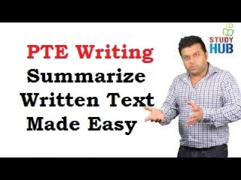 PTE Writing - SUMMARISE WRITTEN TEXT MADE EASY ( 4 MAGICAL CONNECTORS FOR ALL THE SUMMARIES )
