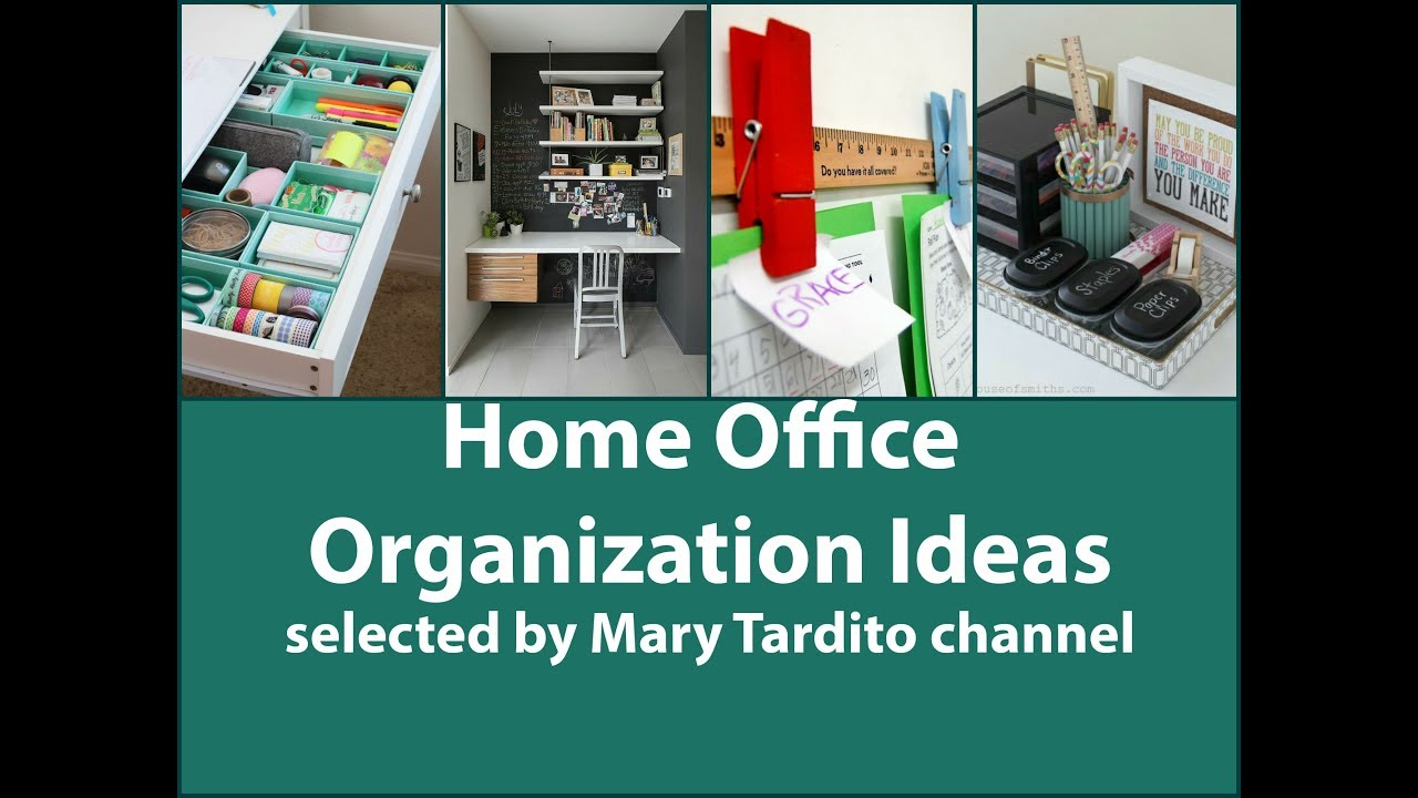 home office organization ideas - youtube
