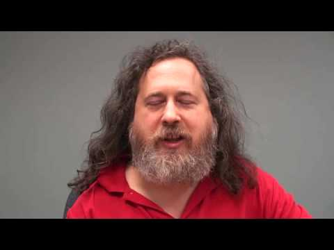 How Richard M. Stallman, leader of the Free Software Foundation uses the open internet