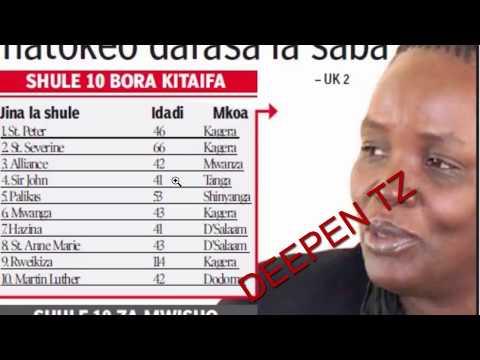 Shule 10 BORA Na 10 Mbaya Na Wanafunzi 10 Bora Matokeo Darasa La 7 Matokeo 2017