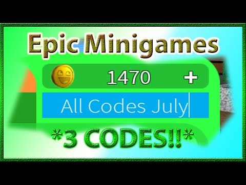 All Codes For Epic Minigames 3 Codes 2019 July Youtube