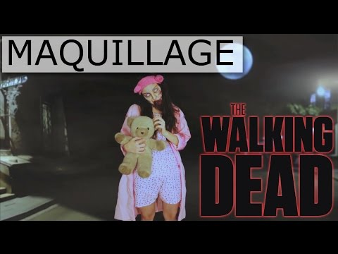 maquillage halloween fillette zombie de walking dead youtube. Black Bedroom Furniture Sets. Home Design Ideas