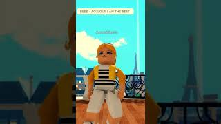 If CHLOE BOURGEOIS Had Her Own THEME SONG (Miraculous Roblox Meme) #shorts