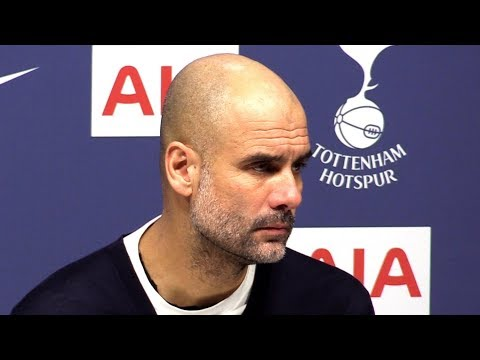 Tottenham 2-0 Man City - Pep Guardiola FULL Post Match Press Conference - Premier League