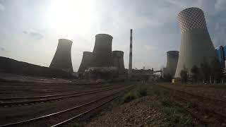Elektrownia Łagisza - wyburzanie komina